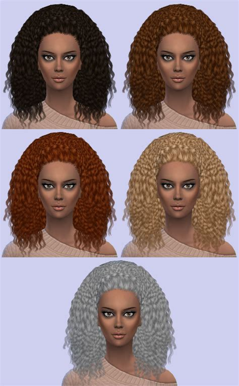 My Sims 4 Blog: Nouk?s Kinky Curly Hair and Braid Accessory Conversion by MonsterMadnessWorld