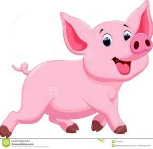 Small Animal Barn Cute Pig Cartoon Stock Illustration Image 57152602
