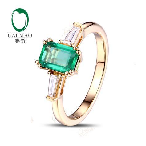 aliexpress buy 14k gold 0 62ct emerald