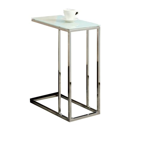 Glass And Chrome Side Table Glass Top Side Table In Chrome I 3000