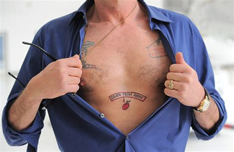 Photo Charlie Sheen S Giving Tree Apocalypse Now Chest Tattoo Sheen Chest