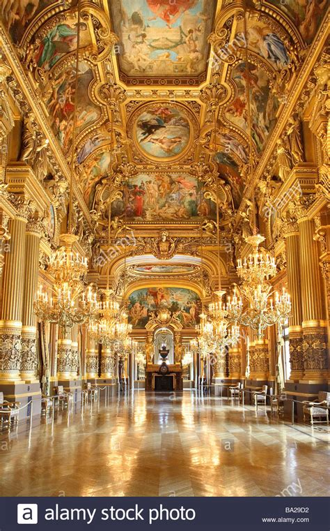grand foyer grand foyer opera garnier stock photo royalty free