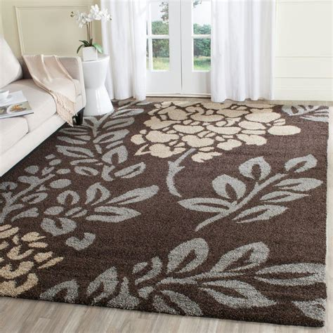 6 X 12 Area Rug Safavieh Florida Shag Brown Gray 8 Ft 6 In X 12 Ft Area Rug Sg456 2880 9 The Home Depot