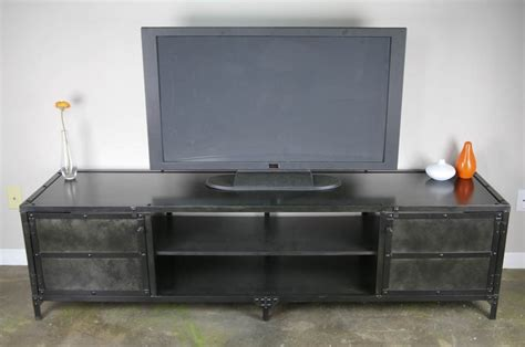 industrial tv stand buy a handmade vintage industrial media console tv stand credenza custom sizes loft