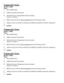 Comparative Essay Outline comparative essay 7 points