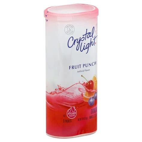 crystal light drink mix crystal light fruit punch drink mix 6 ct target