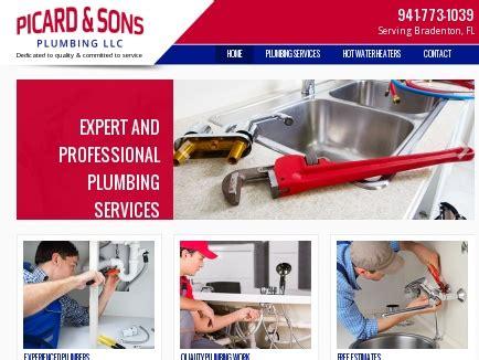 Plumbing Estimating Services by Picard Sons Plumbing Llc Plumbers Bradenton Fl