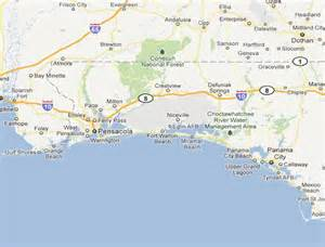 nw florida map map of northwest florida citylondonhotel