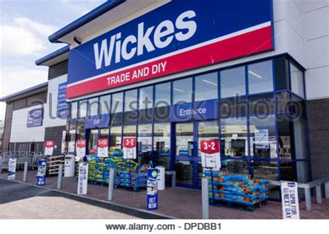 wickes store sign logo uk stock photo royalty