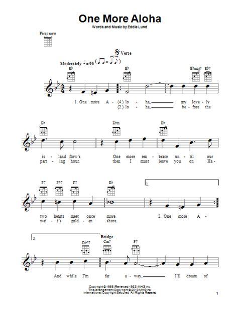 ukulele lessons victoria bc one more aloha sheet music by eddie lund ukulele 97256