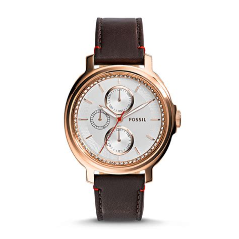 Fossil Chelsey Es3682 chelsey multifunction brown leather fossil