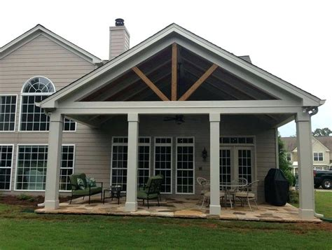 ranch patio backyard porch covered ideas roof design home