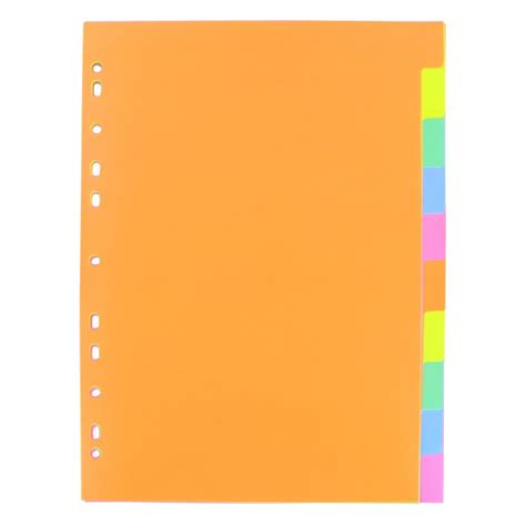 file dividers coloured a4 subject dividers 10 tabs