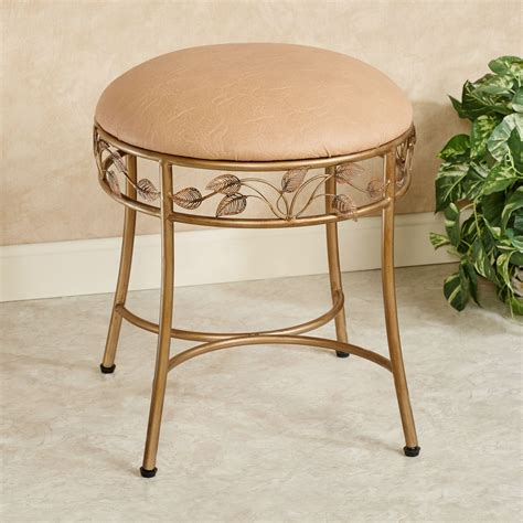 cushioned metal vanity stool