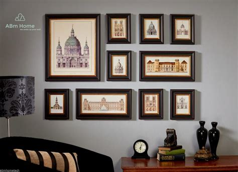 picture frame wall ideas valuable photo frame wall wallpaper clock collage stickers