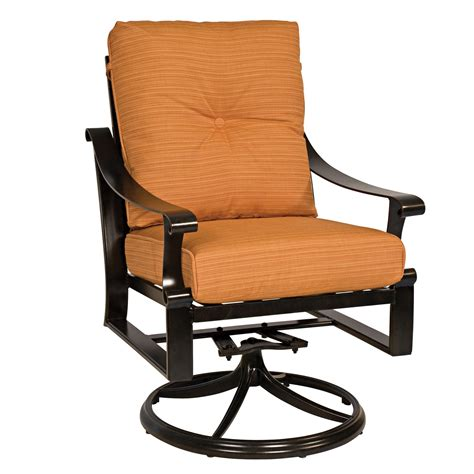 swivel rocking armchair bungalow cushion swivel rocking dining chair woodard