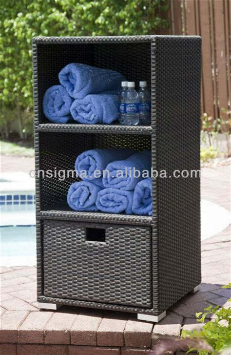 outdoor pool towel storage cabinet towel storage wood storage ideas bathroom creative