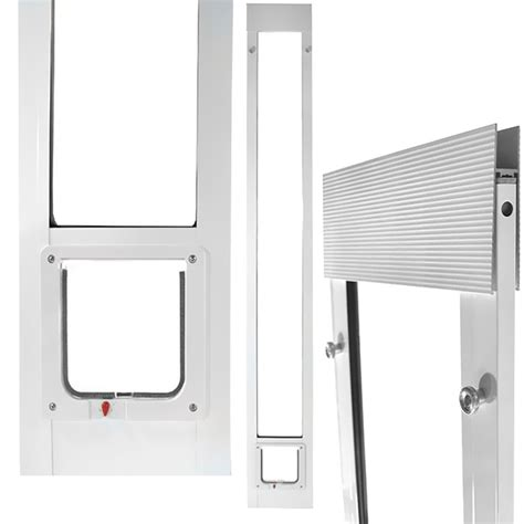 fast fit pet patio door 80 quot cat flap small white
