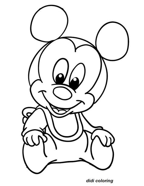 sweet mickey mouse printable coloring page for kids didi