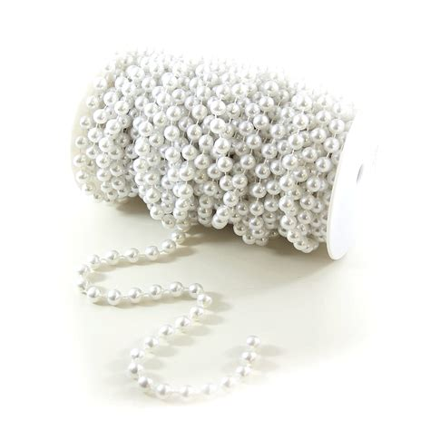 white pearl beaded garland by we can package