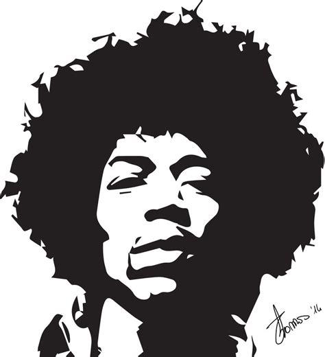 jimi hendrix stencil by tommyilvagabondo on deviantart