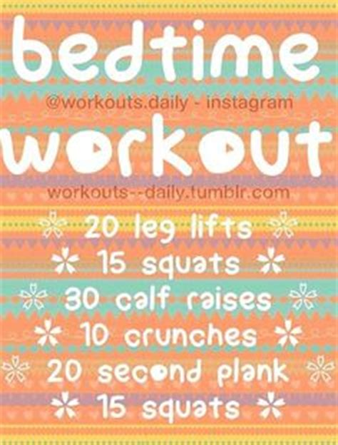 Bedtime Workout On Pinterest