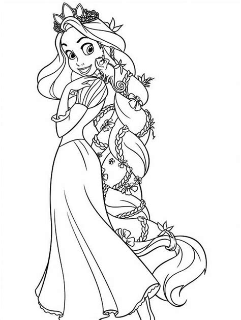 Rapunzel Coloring Page Coloring Home Coloring Pages Of Rapunzel