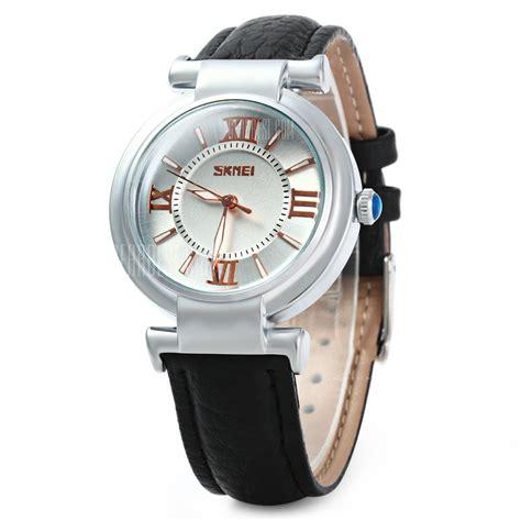 Jam Tangan With skmei jam tangan analog wanita 9075cl black
