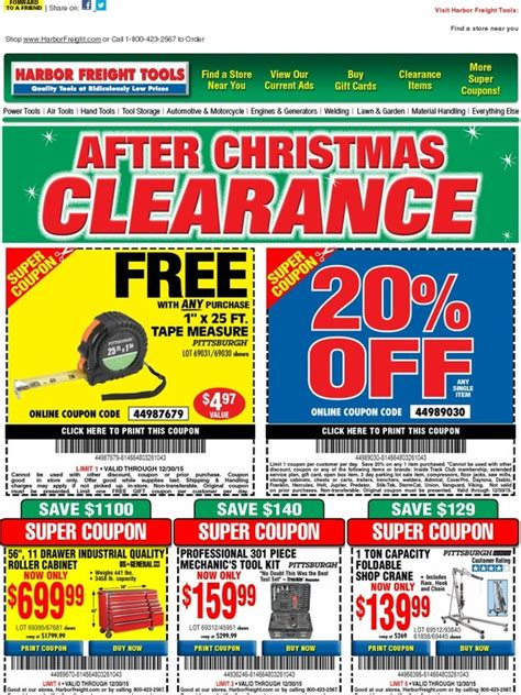 Buy Harbor Freight Gift Cards - harbor freight after christmas clearance 20 off free gift plus save up to 90