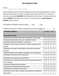 feedback form template 5 hr feedback forms hr templates free premium