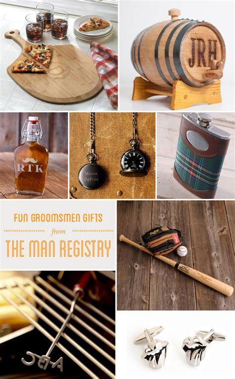 Fun Groomsmen Gifts from The Man Registry
