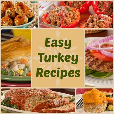 quick healthy dinner recipes 18 easy turkey recipes everydaydiabeticrecipes com