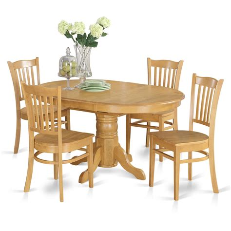 5 Piece Dining Table Set For 4 Table With Leaf And 4 5 Dining Table Set