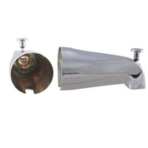 bathtub faucet with shower connection westbrass 5 1 4 in front diverter tub spout with front