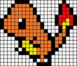 Charmander Pixel Template minecraft pixel template charmander