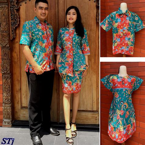 Dress Stj baju batik keluarga model dress stj