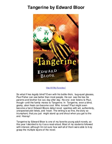 tangerine plot diagram tangerine by edward bloor read this book when i was 10