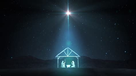 bethehem star plans nativity with animated palm trees and the of bethlehem stock footage 717421