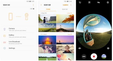 360 app for android samsung s new gear 360 companion app is in the play store android authority