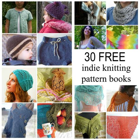 knitted pattern books 5 free knitting pattern books with 25 free patterns