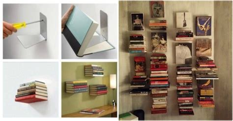 diy invisible floating bookshelf how to