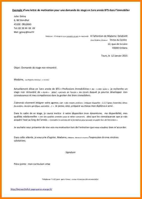 Exemple Lettre De Motivation Stage Webmarketing 9 Exemple Demande De Stage Lettre Officielle