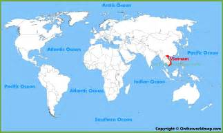 Vietnam On World Map vietnam location on the world map