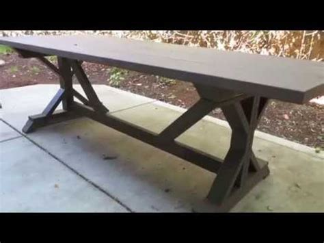 how to an outdoor table how to build an outdoor patio table