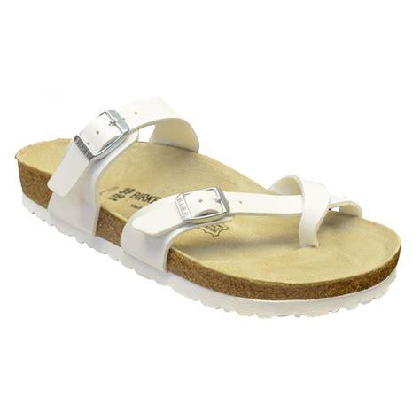 birkenstock white sandals birkenstock birkenstock mayari 071051 birko flor white