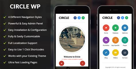 mobile themes themeforest circle mobile mobile wordpress theme by enabled