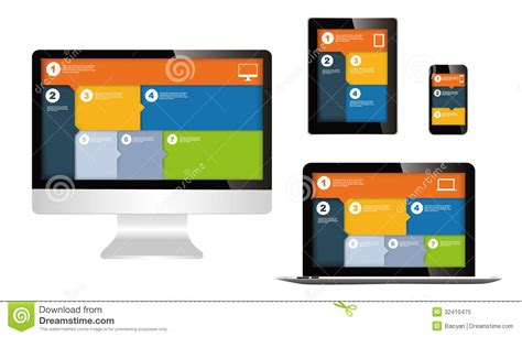 different layout in web design responsive web design stock vector image of monitor