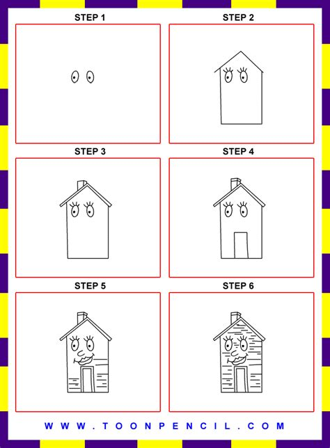 how to draw a house step by step step by step house drawing www imgkid com the image kid has it