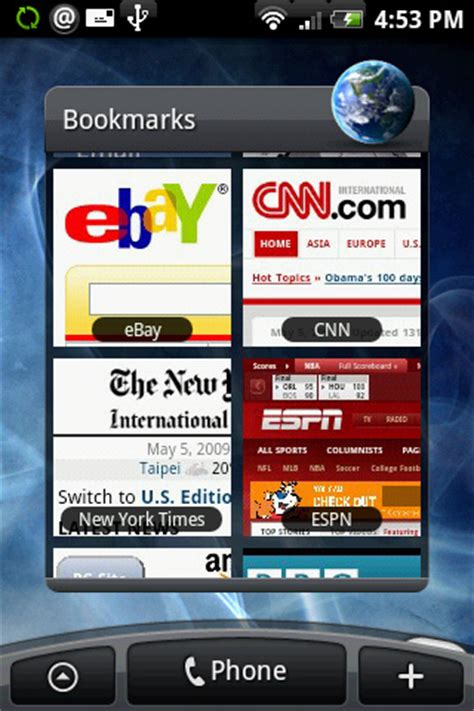 android bookmark widget droid keeps screenshots of browsing droidforums net android forums news