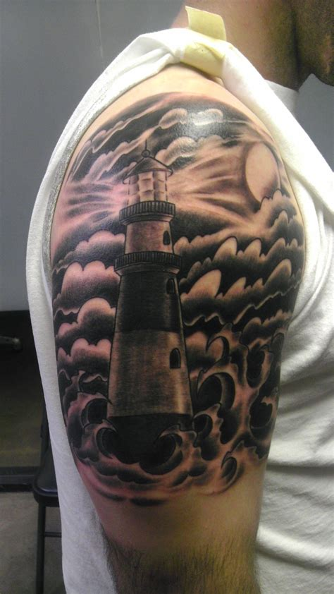 lighthouse tattoo chest pictures to lighthouse tattoos search